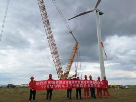 中国船舶集团海装风电2020年首个自建风场全部机组完成吊装