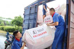 中国石化700余万元防汛物资 驰援江西抗洪一线