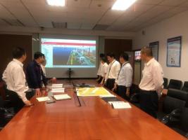 物流海鑫公司联合津航码头开展防污染溢油演习