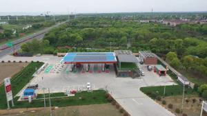 中国石化成功打造我国首座碳中和加油站